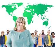 Concept global vert de conservation d'environnement commercial photo libre de droits