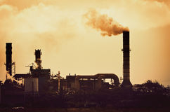Concept of Global Warming. Pollution smoke from factory Stock Photography