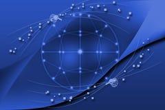Concept globale bedrijfs blauwe achtergrond Royalty-vrije Stock Afbeeldingen