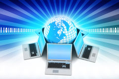 Concept globale bedrijfsmededeling Stock Fotografie