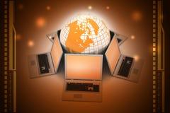 Concept globale bedrijfsmededeling Stock Foto's