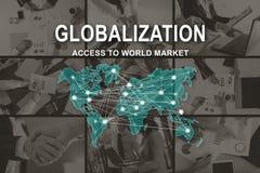 Concept Globalisering stock foto's