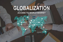 Concept of globalization Stock Image