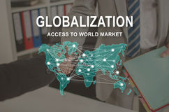 Concept of globalization Stock Photo