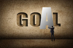 Concept of goal royalty free stock images