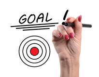 Concept of goal Stock Image