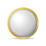 Concept of golden buttons with shadow. Vector illustration Stock Photos