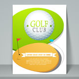 Concept of golf club flyer or template. Stock Image