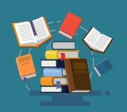 Concept of graduation. Books. Flat design vector illustration Stock Photo