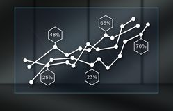 Concept of graph royalty free illustration