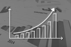 Concept of graph Royalty Free Stock Photo