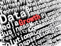 Concept graphic depicting business and growth written in red Royalty Free Stock Images