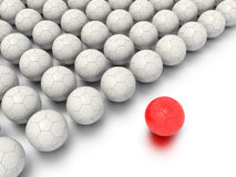 A Concept Graphic featuring a stylized leadership or teamwork ideas. Depicted through a soccer ball sphere theme Stock Images