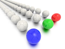 A Concept Graphic featuring a stylized leadership or teamwork ideas. Depicted through a soccer ball sphere theme Stock Image