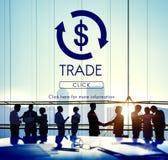 Concept graphique financier de sciences économiques commerciales financières photos libres de droits