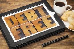 Concept gratuit de dette Images libres de droits