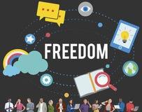 Concept gratuit de l'indépendance d'émancipation d'inspiration de liberté Photo libre de droits