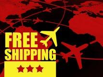 Concept gratuit de transport d'expédition, lignes aériennes dans le monde illustration de vecteur