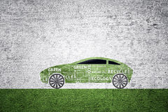 Concept green eco car background Royalty Free Stock Images