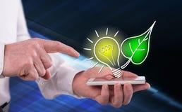 Concept of green energy royalty free stock photos
