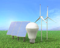Concept of green energy. Royalty Free Stock Images