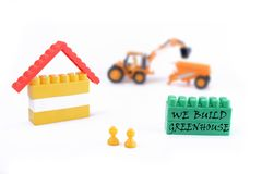Concept of green house with low energy Stock Photography