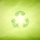 Concept green recycle symbol background Royalty Free Stock Photos