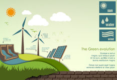 Concept of greening of the world infographics Royalty Free Stock Images