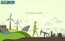 Concept of greening of the world infographics Stock Photo