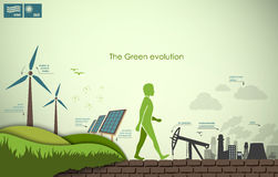 Concept of greening of the world infographics Stock Image