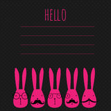 Concept greeting card with rabbits Stock Photo