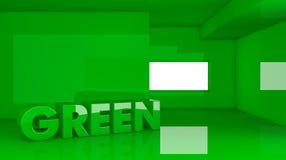Concept groen huis Stock Afbeeldingen
