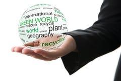 Concept groene wereld stock foto