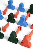 Concept groepswerk, mensen en pictogrammen Stock Fotografie