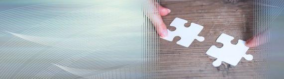 Concept groepswerk Panoramische banner stock fotografie