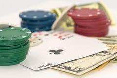 Concept: groot geluk in het gokken en casino royalty-vrije stock afbeelding