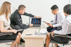 Concept of group business people at meeting in the office Stock Photography
