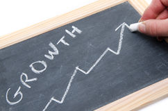 Concept about growth on a slate Stock Photo