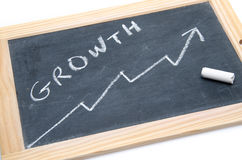 Concept about growth on a slate Stock Images