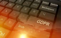 Concept GRPR - algemene gegevensbeschermingregelgeving Royalty-vrije Stock Afbeeldingen