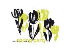 Concept grunge black ink splash vector illustration Royalty Free Stock Images