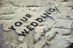 Concept grunge de mariage Images stock