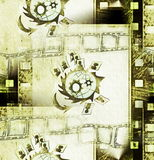 Concept grunge film strip frame Stock Photography