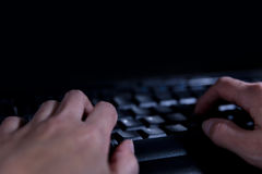 Concept Hacker and Cybercrime, piracy and rigging attacks on the Royalty Free Stock Photography