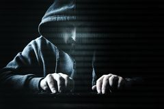 Concept hacker and internet crime stock images