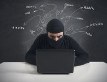 Hacker and computer virus concept Royalty Free Stock Photography