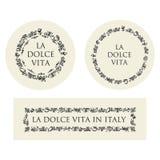 Concept hand drawn italian food elements Stock Photo