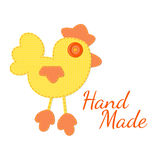 Concept of hand made logo. Cock of the tissue Royalty Free Stock Images