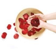 concept hands manicure spa Στοκ φωτογραφίες με δικαίωμα ελεύθερης χρήσης