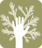 Concept of hands tree Royalty Free Stock Images